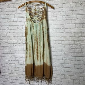 Earthbound Tie Dye Boho Sun Dress Lattice Size L